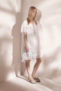 Платье из хлопка и шелка No.21