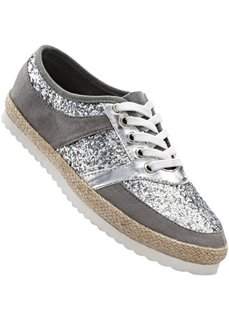 Спортивные туфли (серый/серебристый) Bonprix