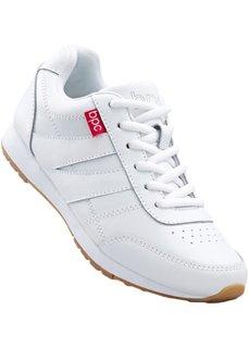 Кожаные кроссовки (черный) Bonprix