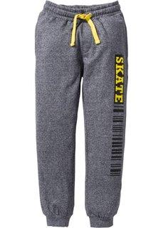 Трикотажные брюки со стильным принтом (черный) Bonprix