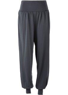 Спортивные брюки-саруэл для велнеса (черный) Bonprix