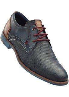 Кожаные туфли (синий джинсовый) Bonprix