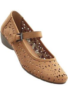 Туфли на ремешке (антрацитовый/серый) Bonprix
