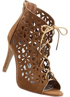 Босоножки на шнуровке (черный) Bonprix