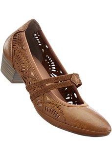 Туфли на ремешке (черный) Bonprix