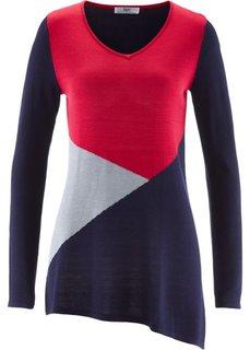 Асимметричный пуловер (светло-серый меланж) Bonprix