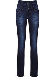 Джинсы Skinny с высокой посадкой (голубой) Bonprix