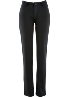 Прямые трикотажные брюки (темно-синий) Bonprix