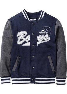 Университетская куртка (темно-синий/антрацитовый мелан) Bonprix