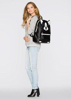 Рюкзак в форме зверька (черный/собачка) Bonprix