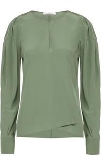 Шелковая блуза асимметричного кроя с вырезом-капелька Dorothee Schumacher