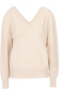 Пуловер свободного кроя с V-образным вырезом Victoria Beckham