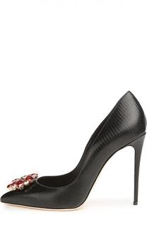 Кожаные туфли Belucci с декором Dolce & Gabbana
