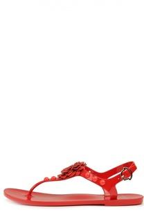 Резиновые сандалии Manon с декором Moncler