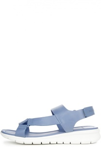 Кожаные сандалии с застежкой велькро Moncler