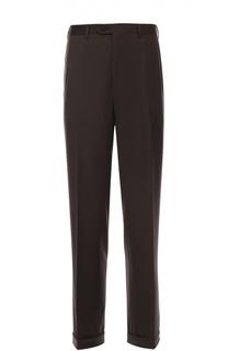 Шерстяные брюки прямого кроя Brioni