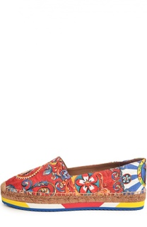 Эспадрильи с принтом Carretto Siciliano Dolce & Gabbana