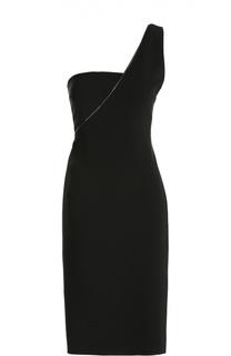 Приталенное мини-платье асимметричного кроя Tom Ford