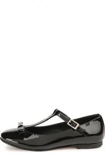 Лаковые туфли с бантом Fendi Roma