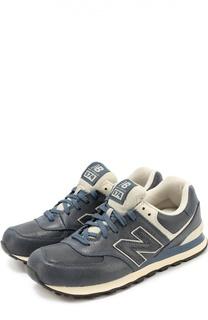 Кожаные кроссовки 574 на шнуровке New Balance