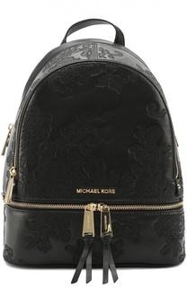 Кожаный рюкзак Rhea с кружевным тиснением Michael Michael Kors
