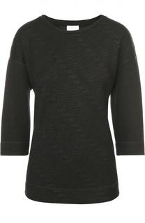 Пуловер прямого кроя с круглым вырезом и фактурной отделкой Escada Sport