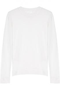 Вязаный пуловер прямого кроя с круглым вырезом DKNY