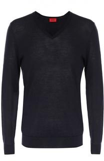 Пуловер из шерсти тонкой вязки HUGO