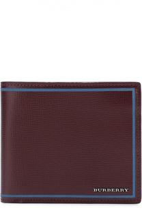 Кожаное портмоне с контрастной отделкой Burberry
