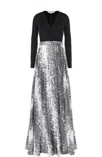 Приталенное платье-макси с запахом Diane Von Furstenberg