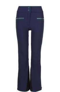 Утепленные расклешенные брюки с контрастной отделкой Escada Sport