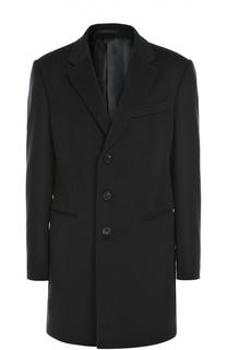 Однобортное пальто из смеси шерсти и кашемира Armani Collezioni