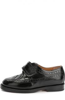 Кожаные ботинки с застежкой велькро Gallucci