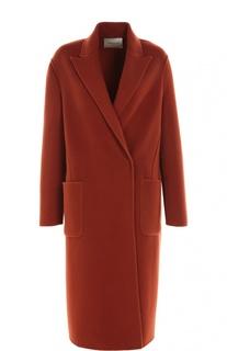 Шерстяное пальто прямого кроя с накладными карманами Lanvin