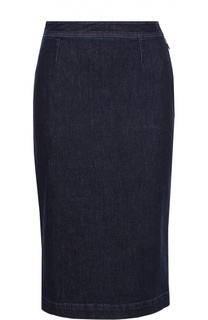 Джинсовая юбка-карандаш с карманами Emilio Pucci