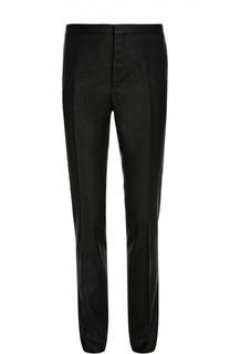 Шерстяные брюки с добавлением серебристых нитей Lanvin