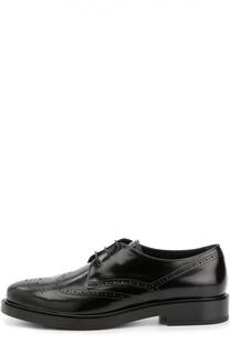 Кожаные ботинки Gomma с перфорацией Tod's