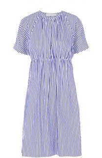 Мини-платье в контрастную полоску с завышенной талией Victoria by Victoria Beckham
