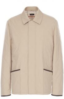 Стеганая куртка с отделкой из натуральной кожи Loro Piana
