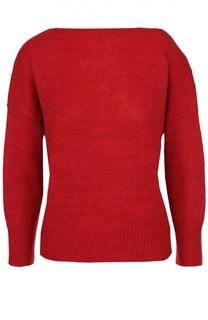 Укороченный пуловер свободного кроя с вырезом-лодочка Isabel Marant Etoile