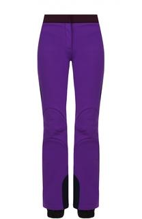 Утепленные расклешенные брюки с контрастными лампасами Fendi