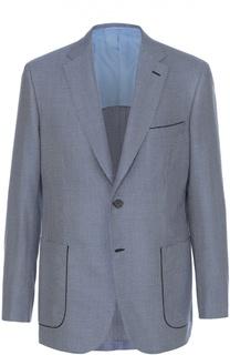 Однобортный пиджак из смеси шелка и шерсти Brioni