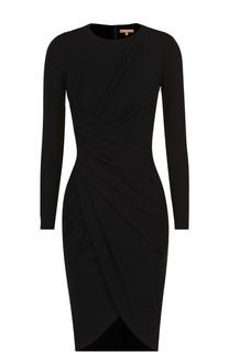Платье-футляр с длинным рукавом и драпировкой Michael Kors