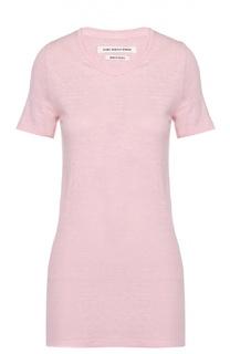 Льняная удлиненная футболка с круглым вырезом Isabel Marant Etoile