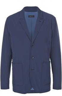 Утепленная куртка с отложным воротником и отделкой из натуральной замши Loro Piana