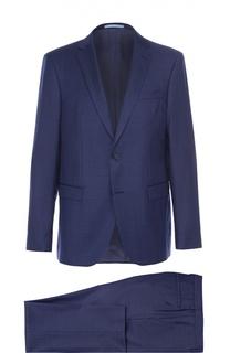 Шерстяной костюм с пиджаком на двух пуговицах Sand