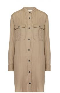 Платье-рубашка прямого кроя с накладными карманами Isabel Marant Etoile