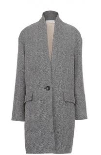 Пальто прямого кроя с карманами и воротником-стойкой Isabel Marant Etoile