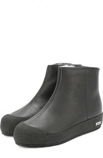 Кожаные ботинки с внутренней меховой отделкой Bally