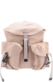 Кожаный рюкзак с накладными карманами No. 21